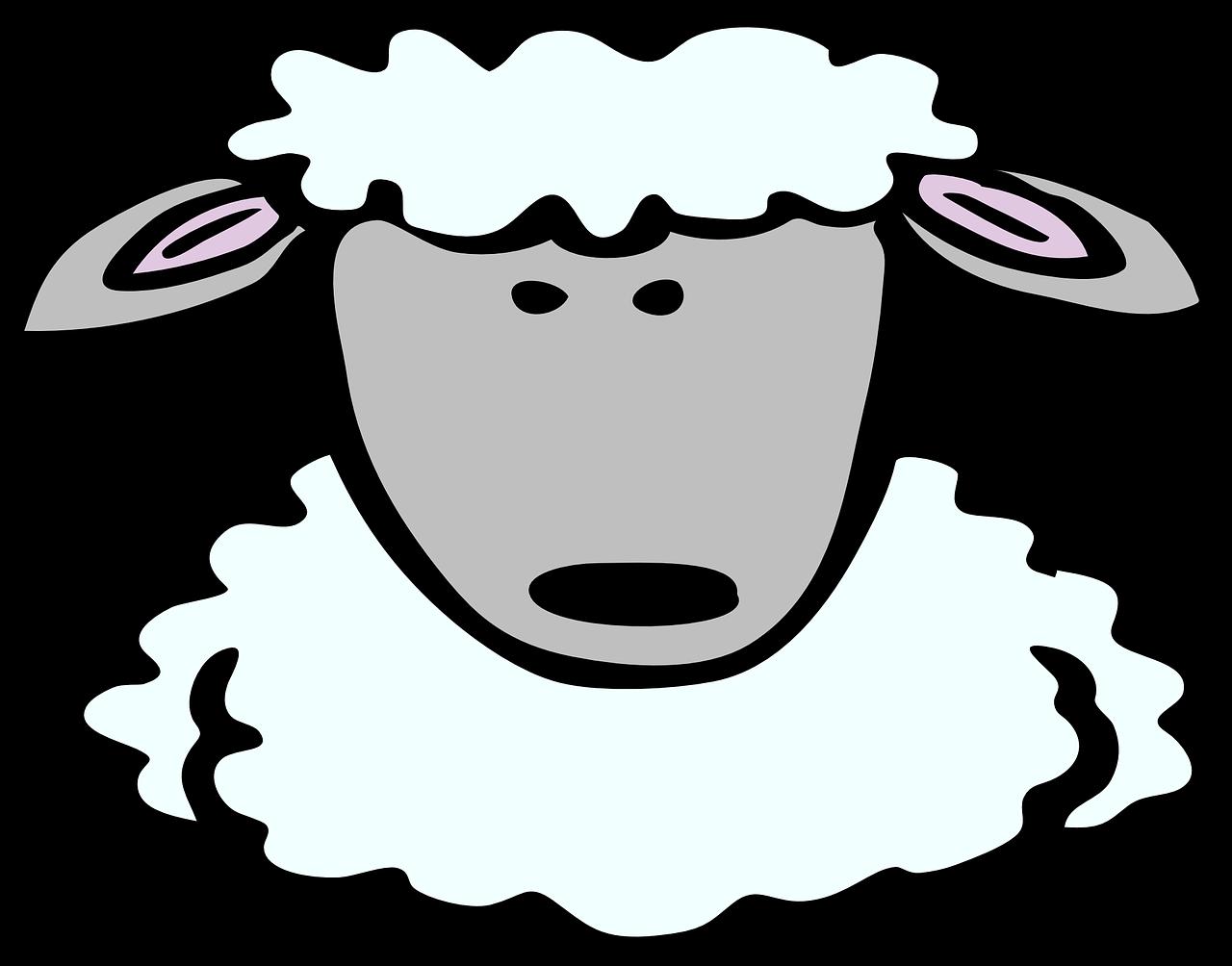 Feast clipart eid. Sheep face comic animal