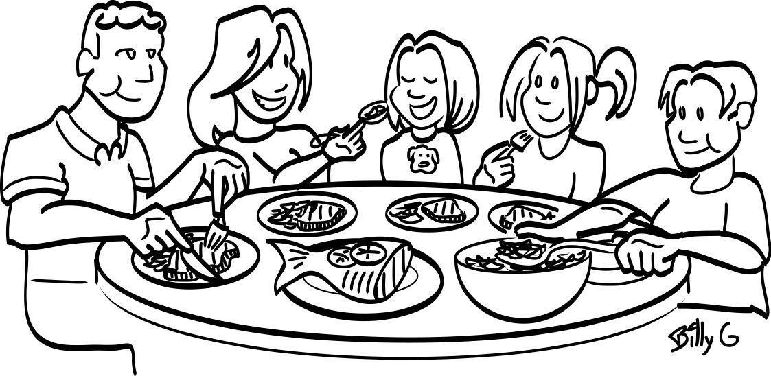 Feast clipart family bonding. X free clip art