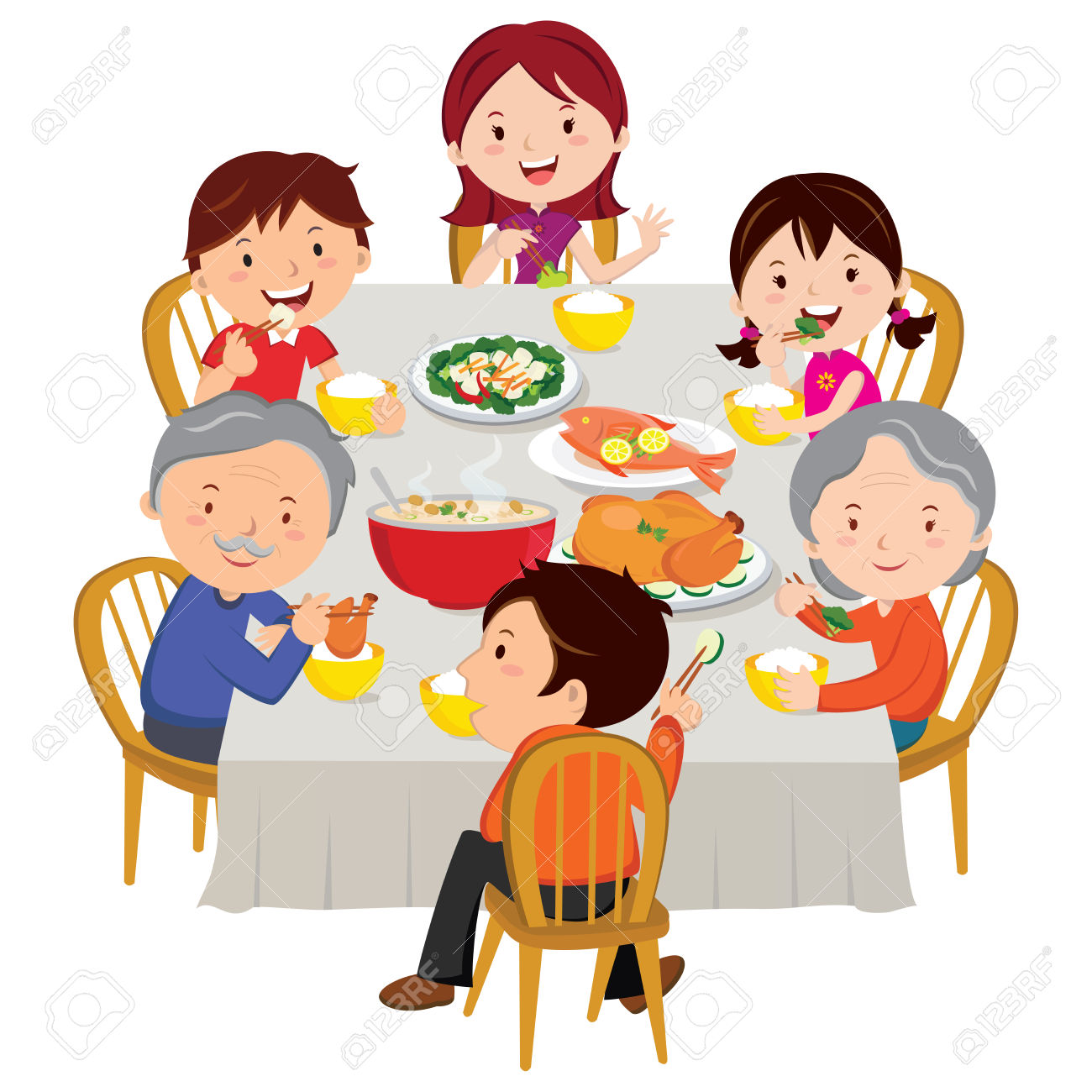 Feast clipart family dining. Dinner free download best
