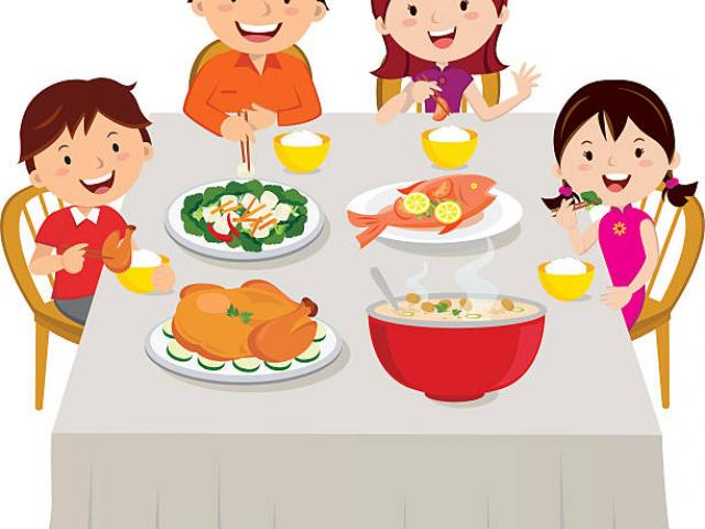 Free download clip art. Feast clipart family oriented