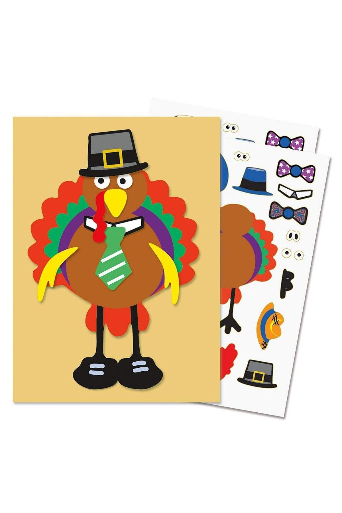 Make a turkey sticker. Feast clipart family oriented