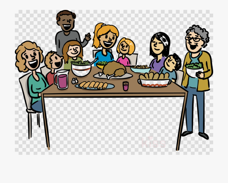 Thanksgiving clip art transparent. Feast clipart family reunion dinner
