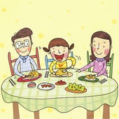 Feast clipart family time. Free dinner cliparts download