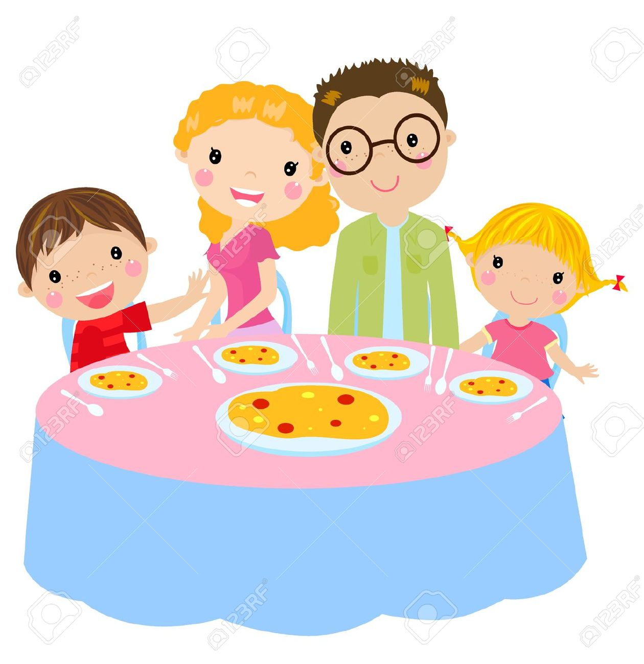 Eating look at clip. Feast clipart family time