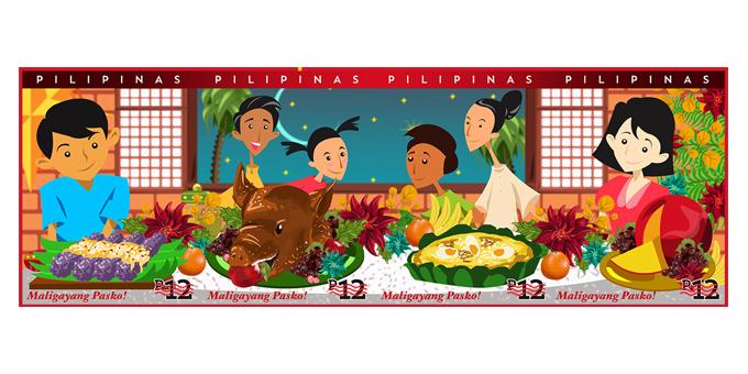 Feast clipart filipino food. Pasko featuring noche buena