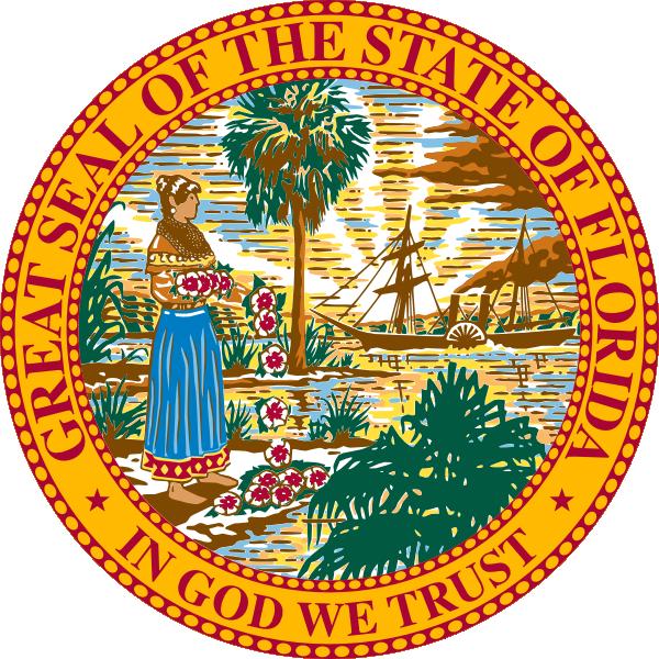 Seal of clip art. Florida clipart flag florida