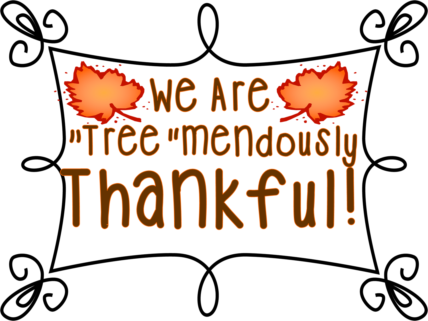 Tree mendously thankful and. Feast clipart grateful