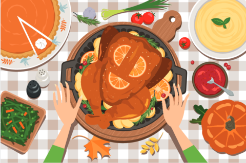 A safe hunger and. Feast clipart holiday feast
