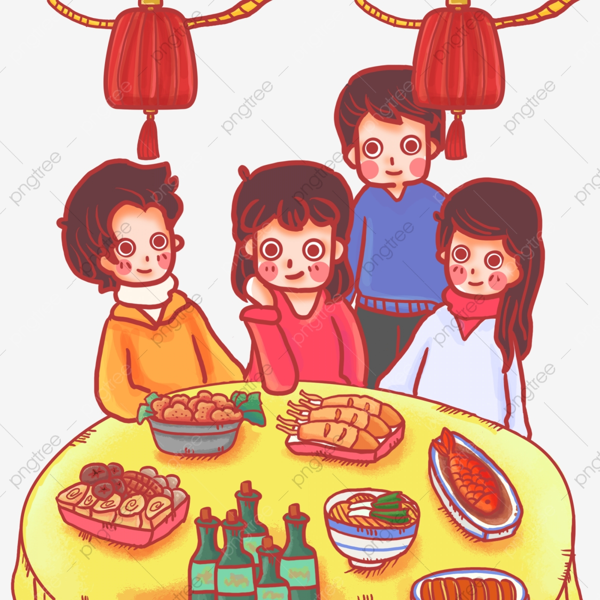 Eat dinner the company. Feast clipart home cooked meal