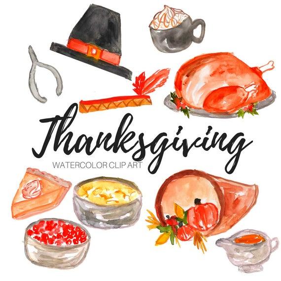 Feast clipart item. Thanksgiving clip art watercolor
