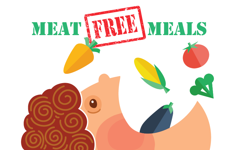 Get your free meal. Meat clipart non veg food