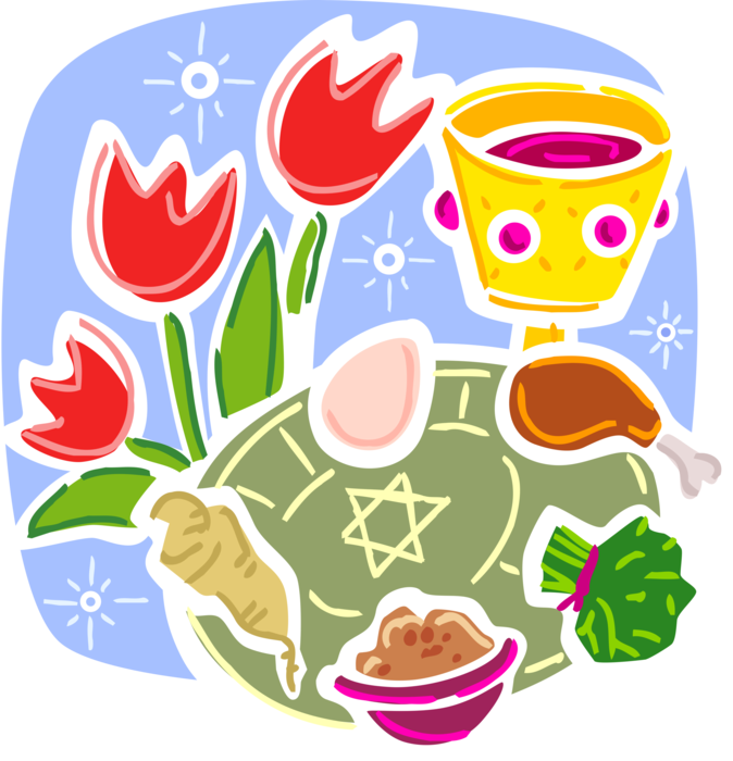 Jewish of salvation vector. Feast clipart passover