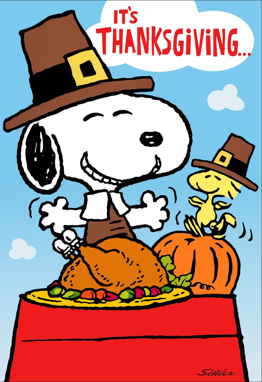 Feast clipart peanuts. Snoopy and woodstock thanksgiving