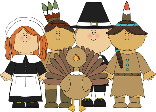 Pilgrims clipart first. And indians a turkey