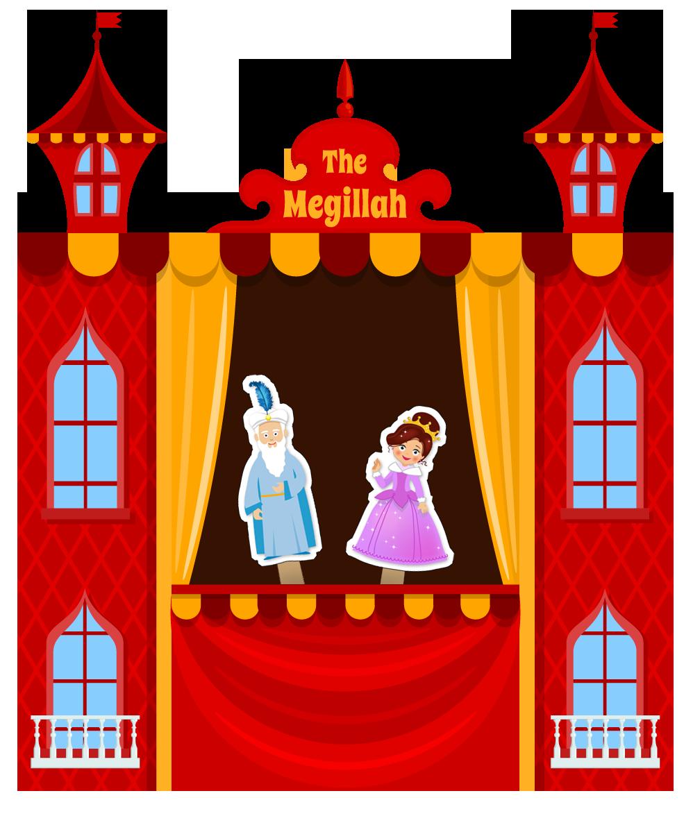 Purim clipart story. The megillah puppet show