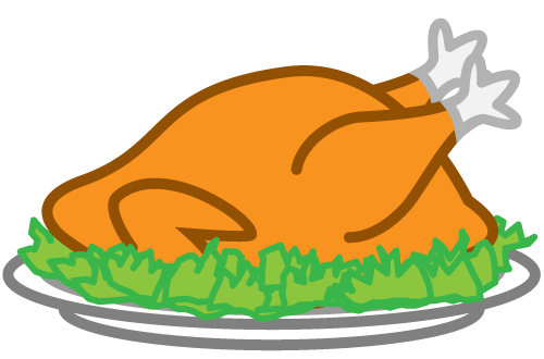 Feast clipart roast chicken. Cartoon images gallery for
