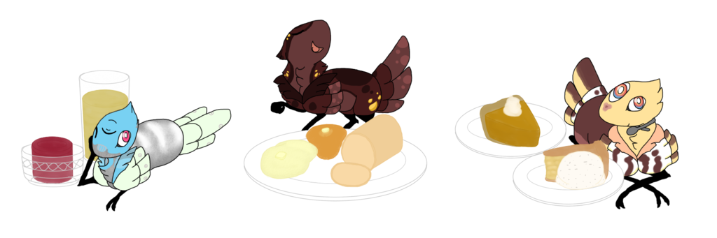 Feast clipart thanksgiving side dish. Pinnipards by whistling kite