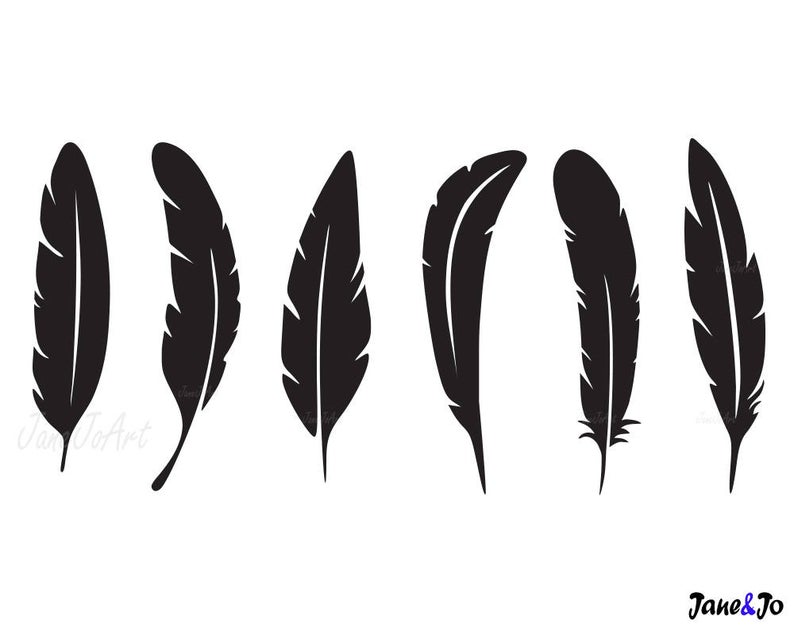 Svg feathers cricut silhouette. Feather clipart