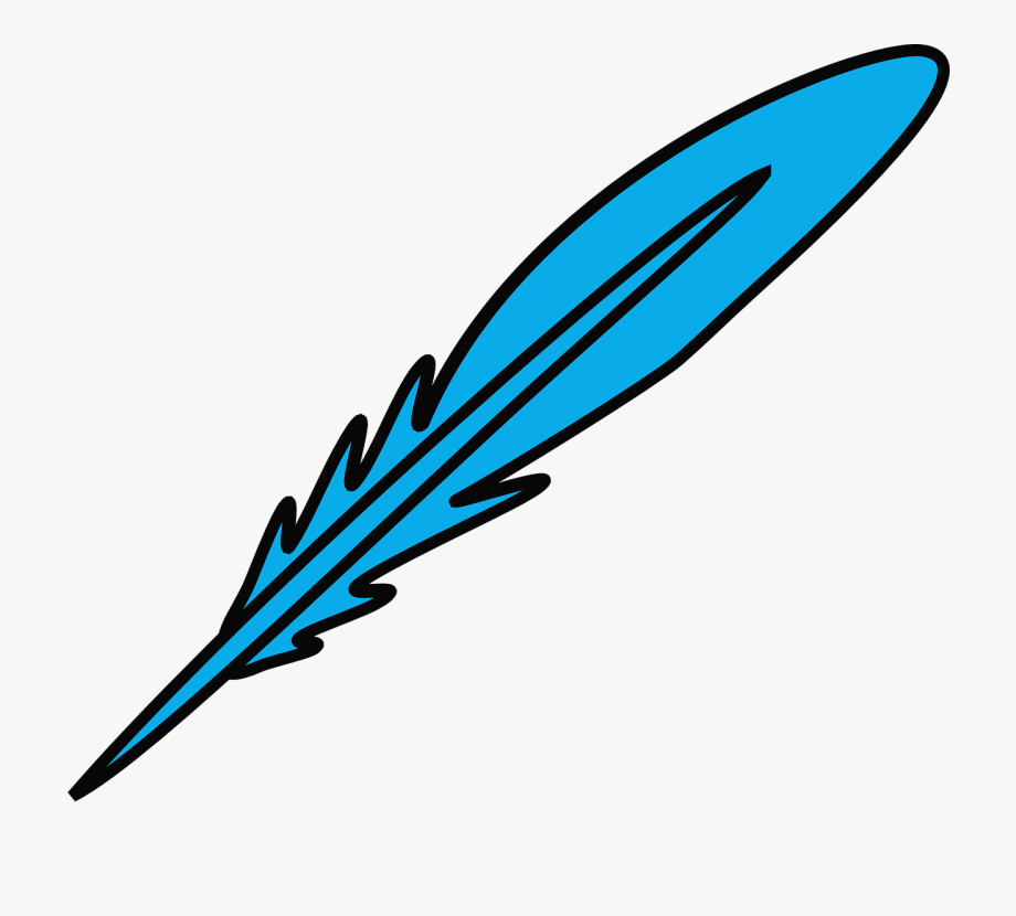 Free . Feather clipart blue feather