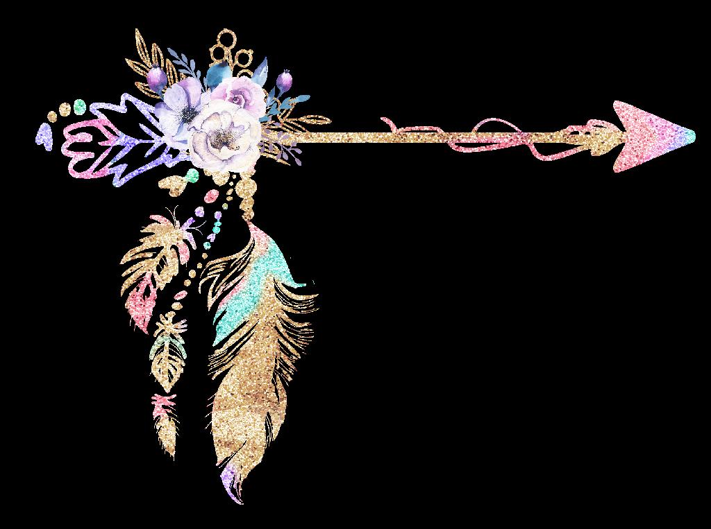 Feather clipart boho. Freetoedit glitter rainbow bohemian