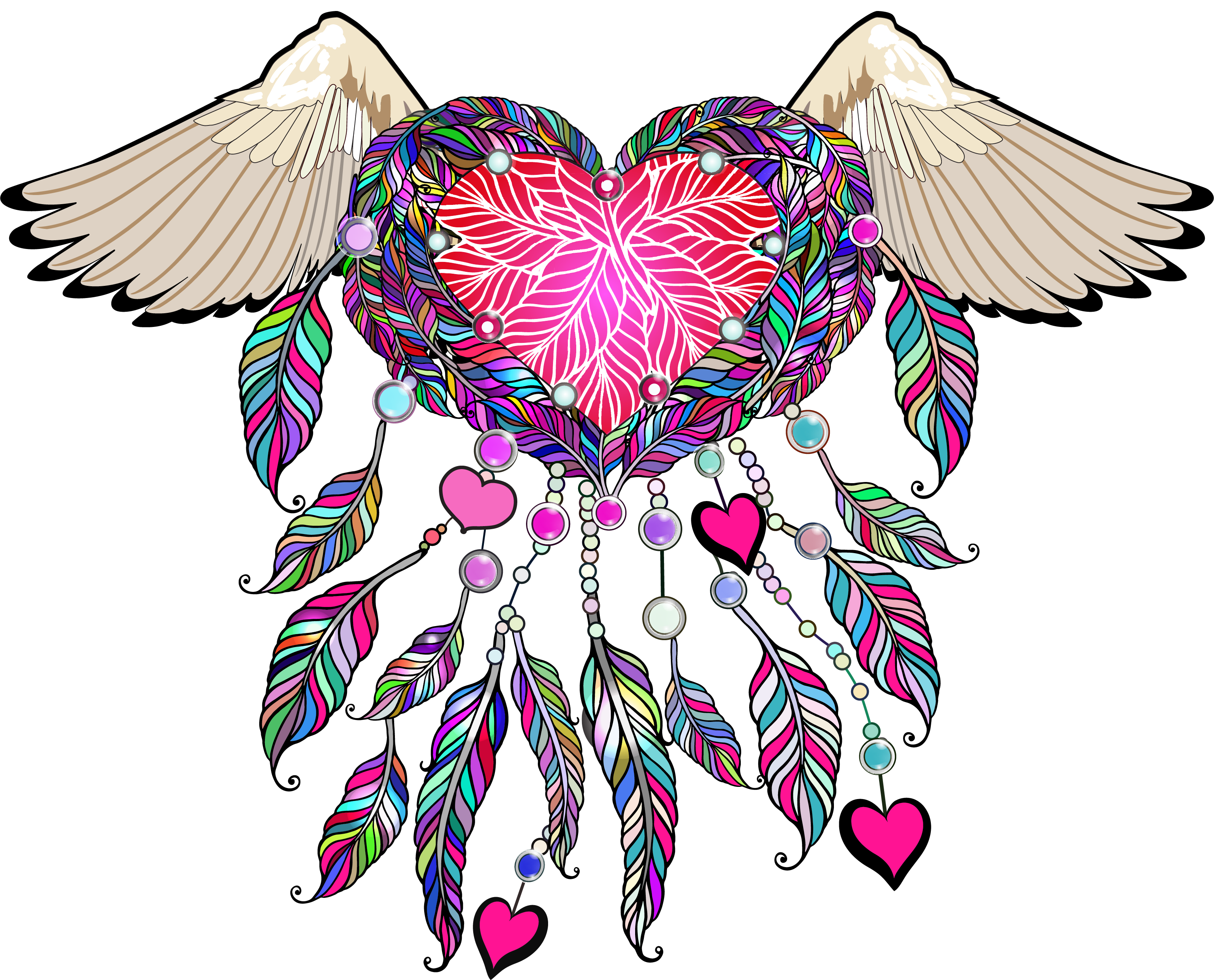 Feather clipart boho. Valentine transfers sew down