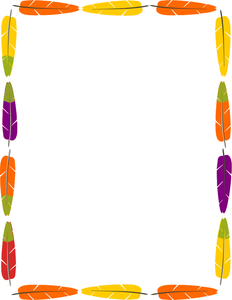 Feather clipart borders. Frame image native american