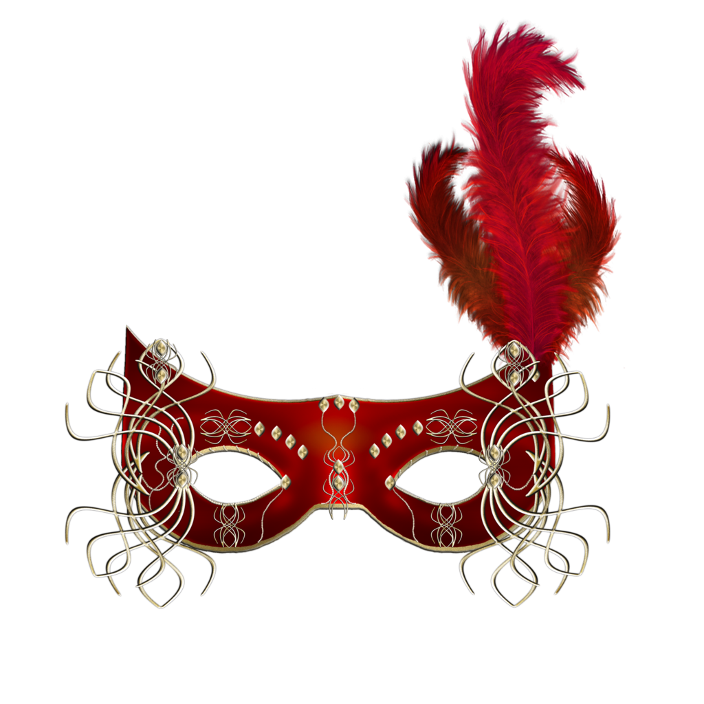 Red mask pinterest masking. Feather clipart carnival