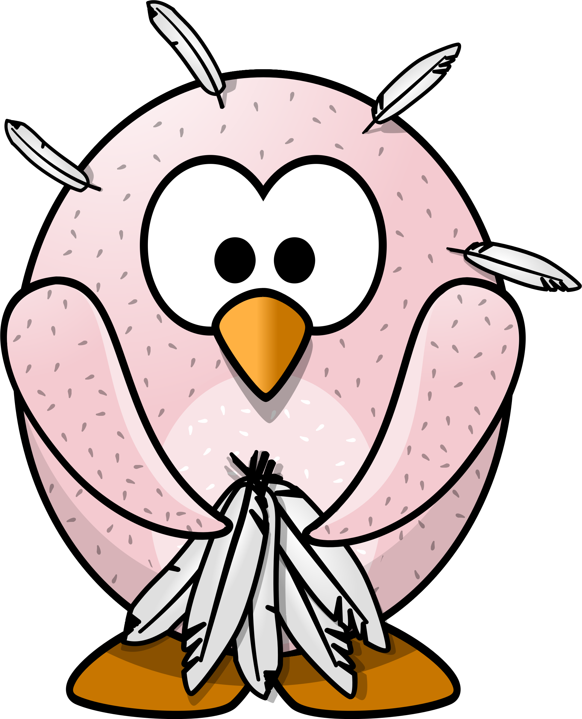 Feathers clipart goose feather. Plucked penguin big image