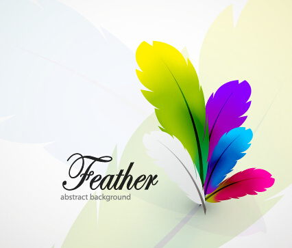 Feather clipart colored. Color vector free download