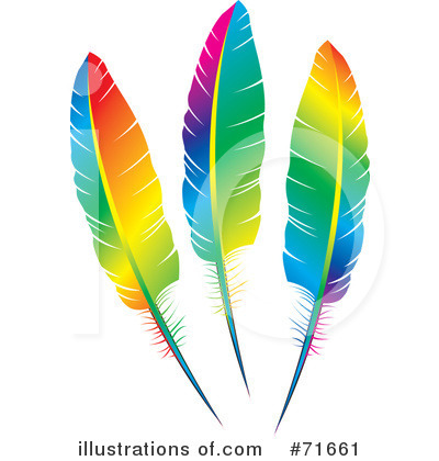Feather clipart colorful feather. Feathers illustration by lal