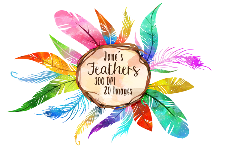 Watercolor feathers . Feather clipart colorful feather