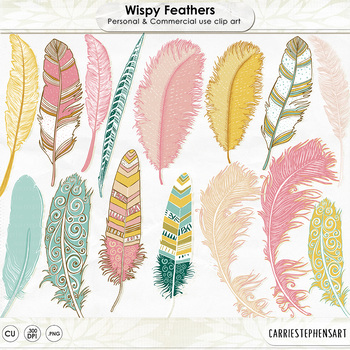 Wispy aztec clip art. Feather clipart colourful feather