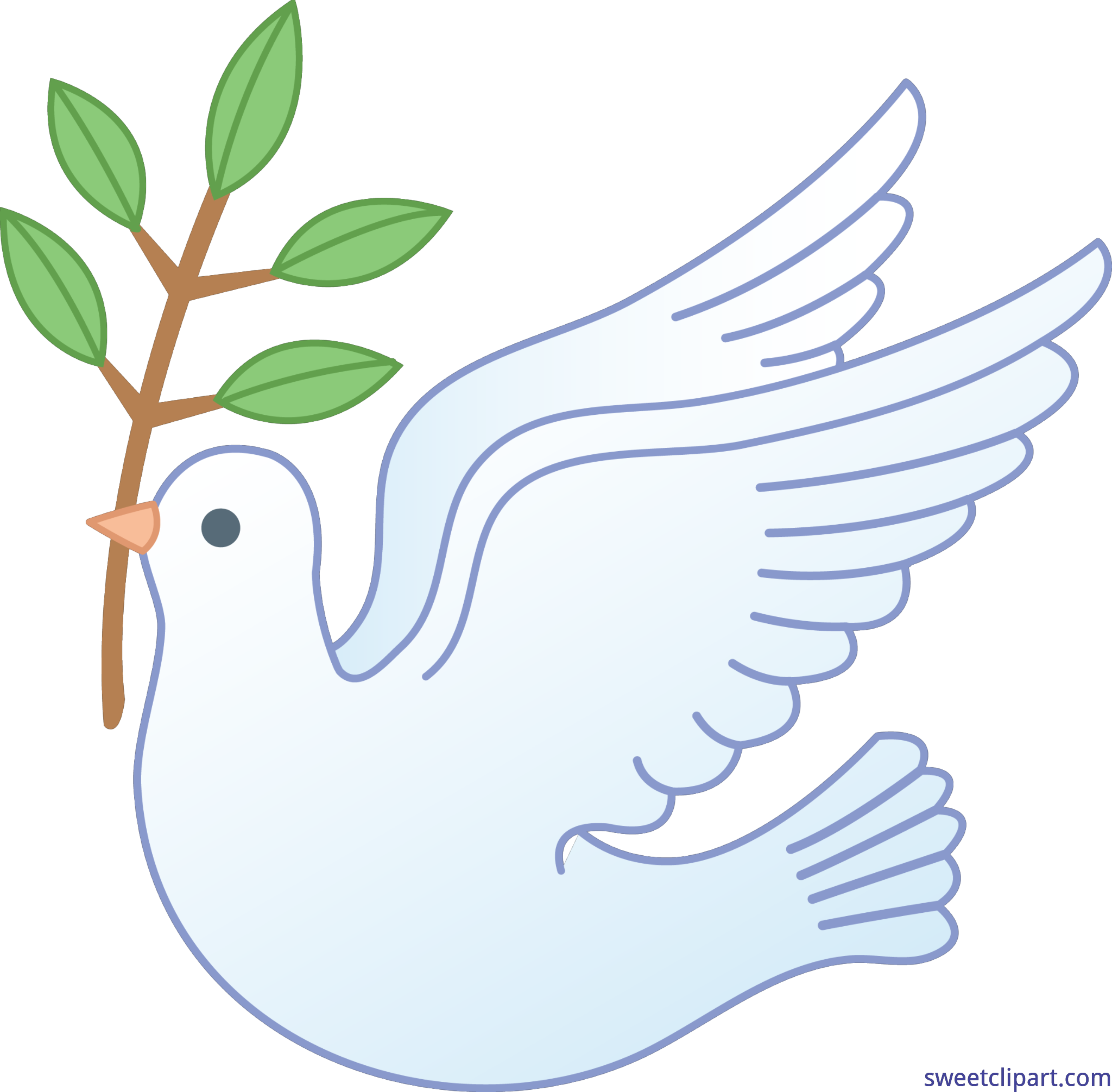 Feathers clipart dove. Peace clip art sweet