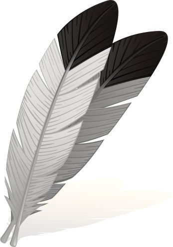 Feather clipart eagle feather. Clip art vector images