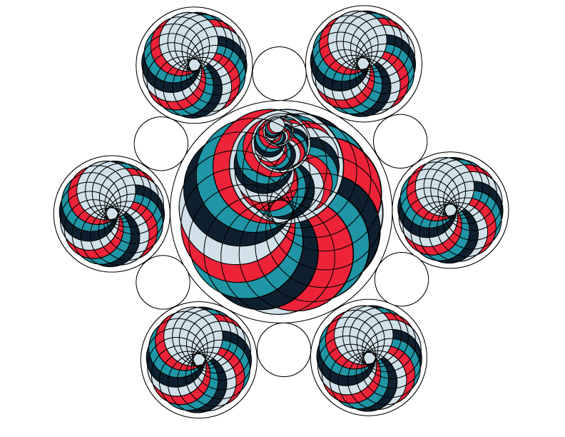 Sacred geometry with color. Feather clipart geometric
