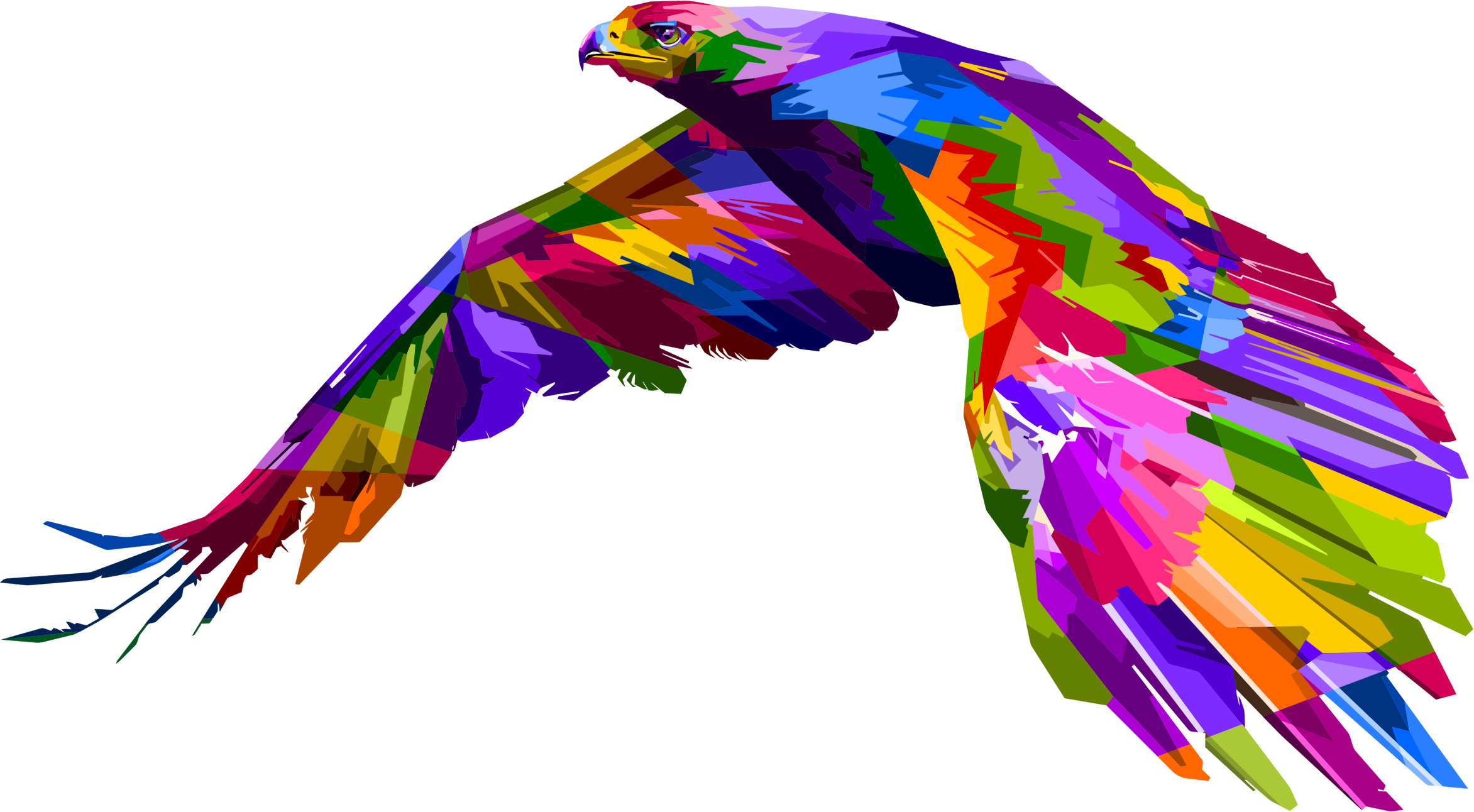 Feather clipart geometric. Prismatic eagle big image