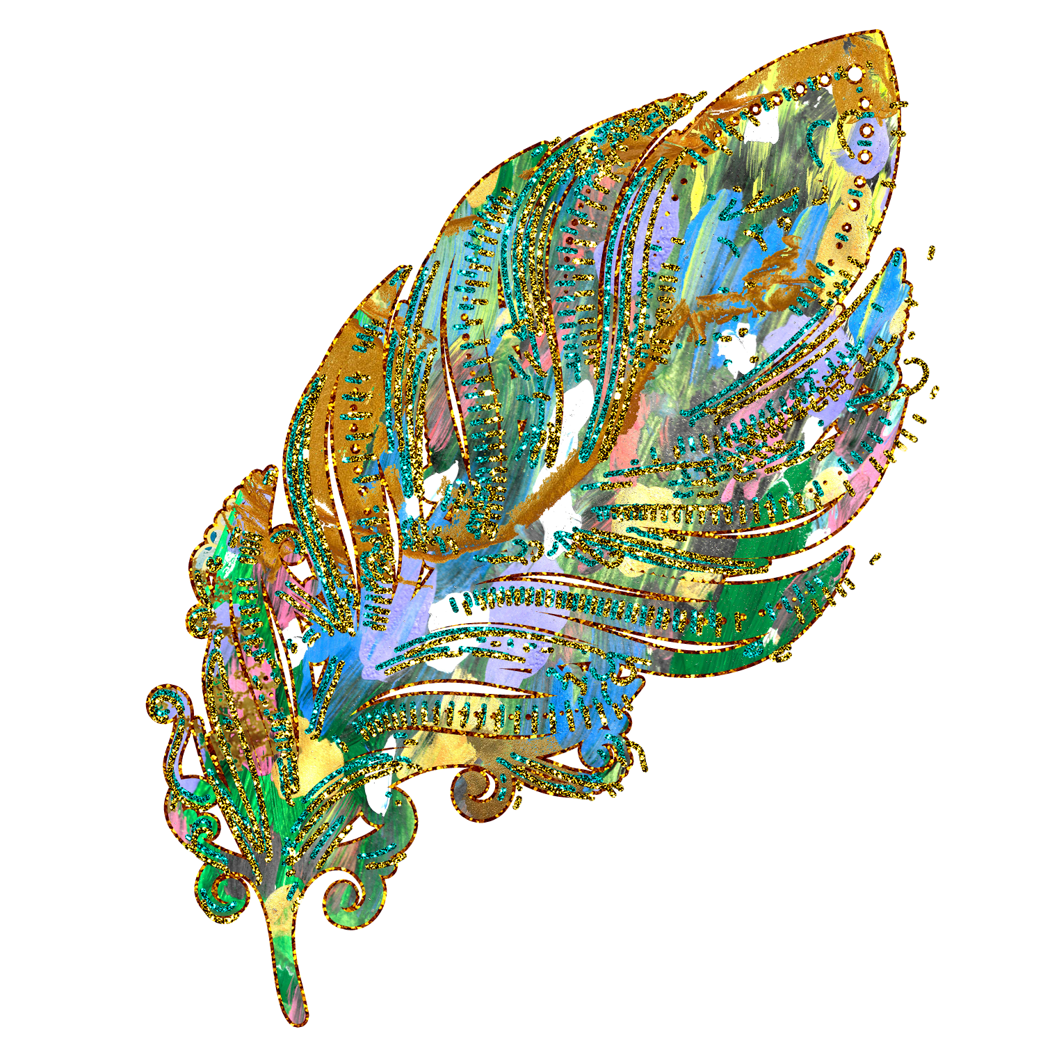 Feathers gold clip art. Feather clipart glitter