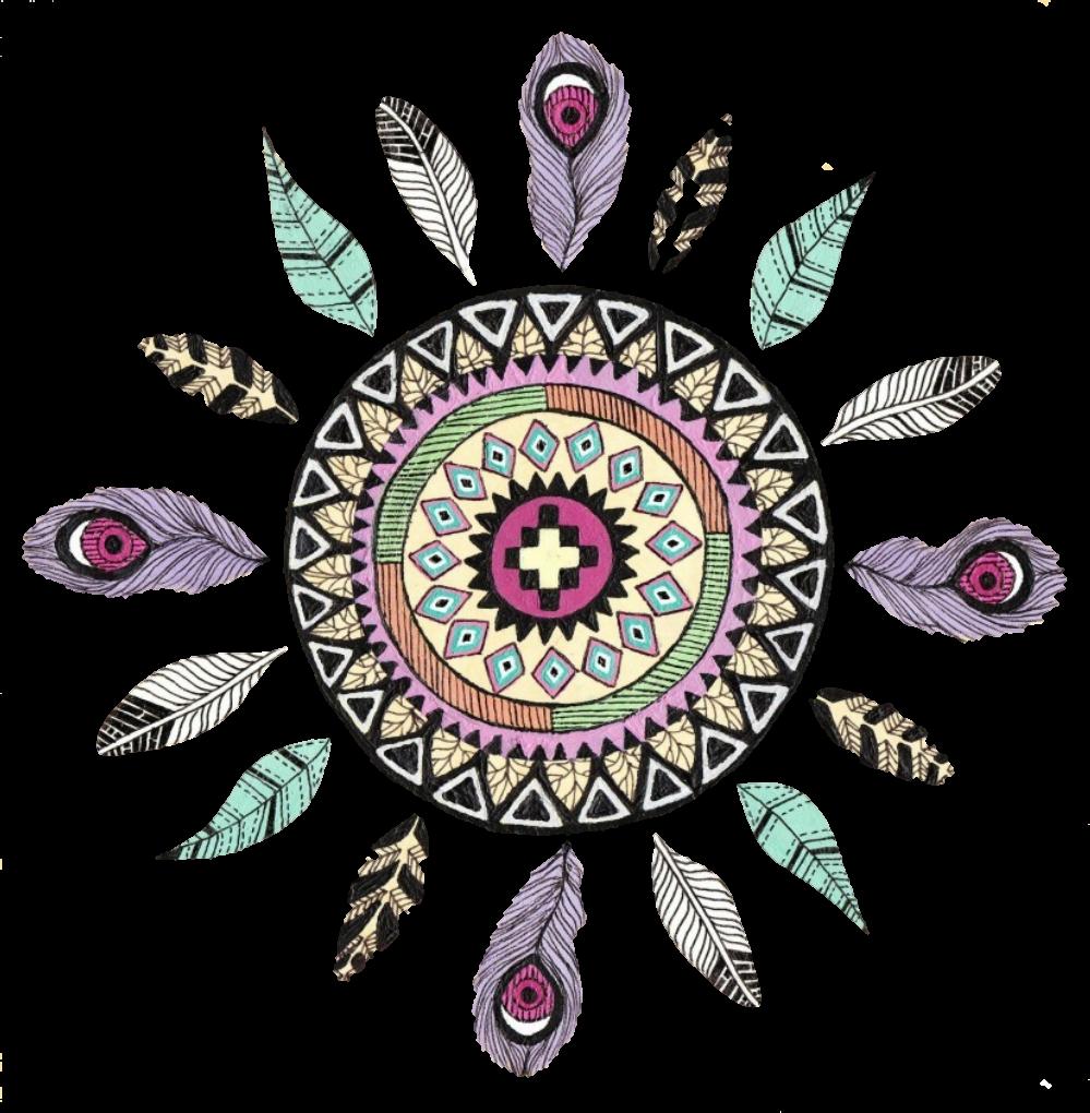 Feather inspiration insponature lifestyle. Feathers clipart mandala
