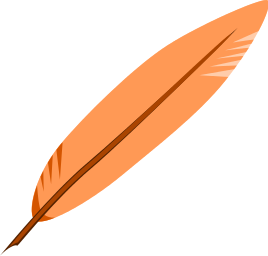 feathers clipartlook. Feather clipart orange feather