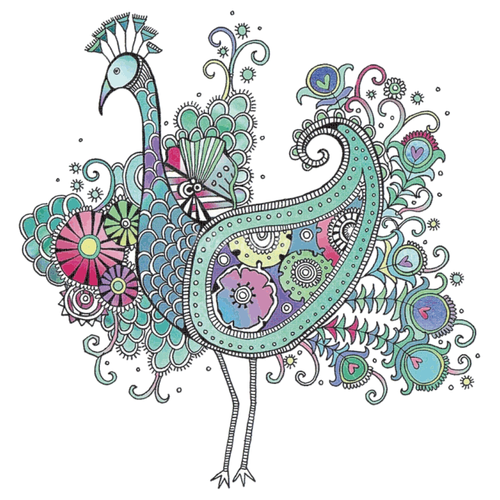 Bird peafowl drawing doodle. Feather clipart paisley peacock