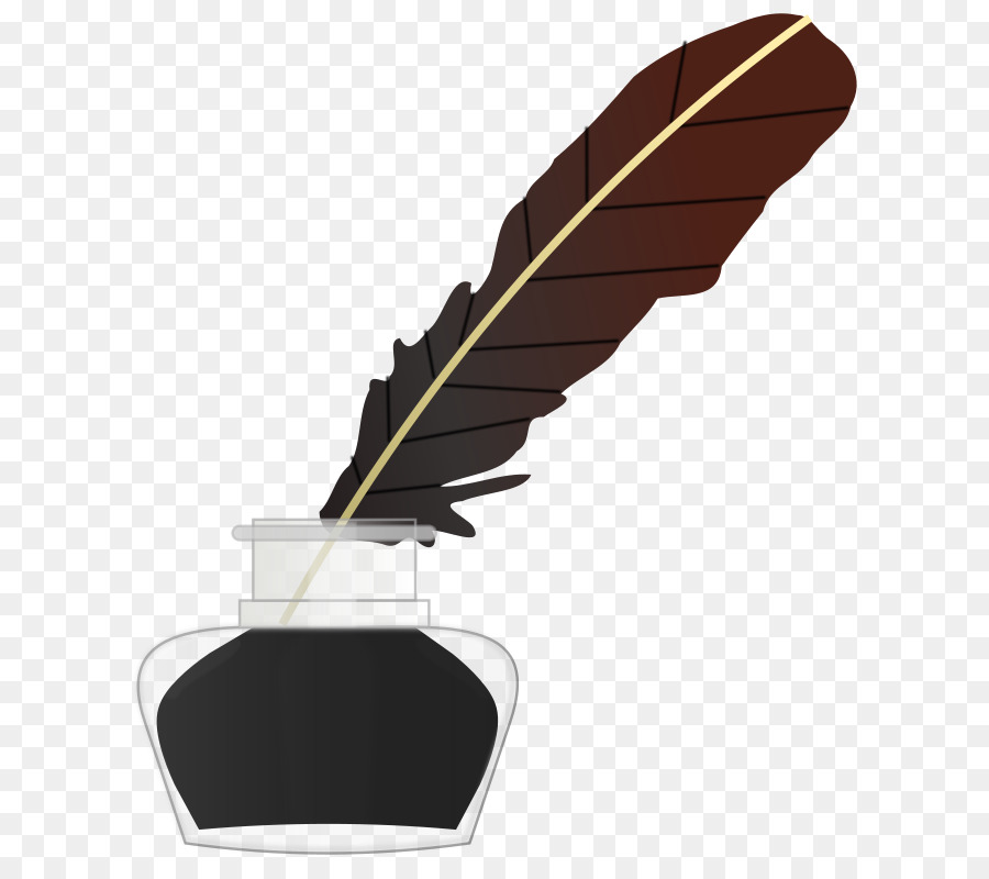 Pen and notebook feather. Feathers clipart ink