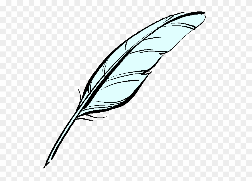 Graphic download pen . Feather clipart quill