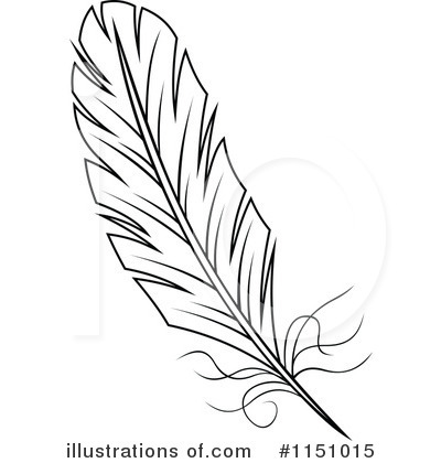 Illustration by vector tradition. Feather clipart royalty free