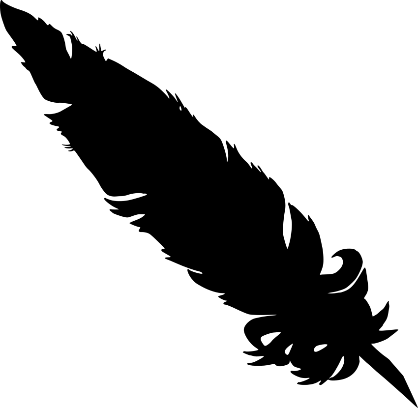 Feathers clipart silhouette. Simple feather png free