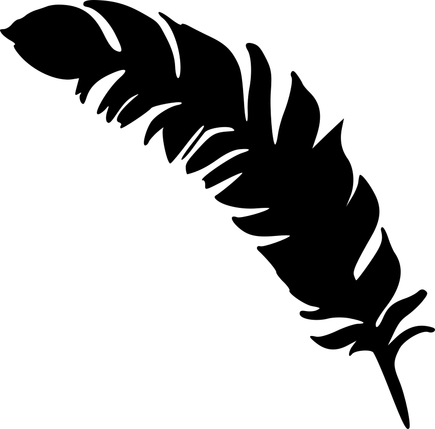 Feather clipart simple. Silhouette png free images
