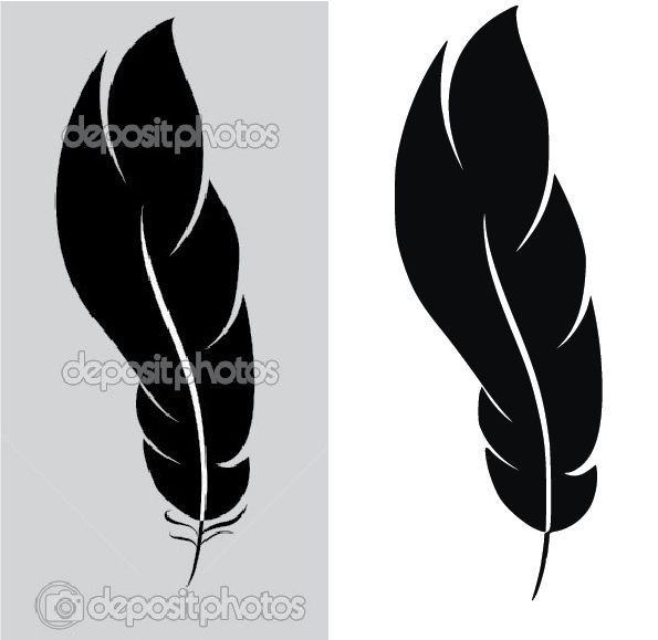 Vector into a usable. Feather clipart simple
