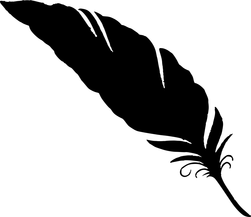 Silhouette png free images. Feather clipart simple