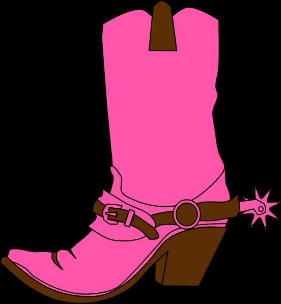 Western christmas clip art. Boot clipart girl boot