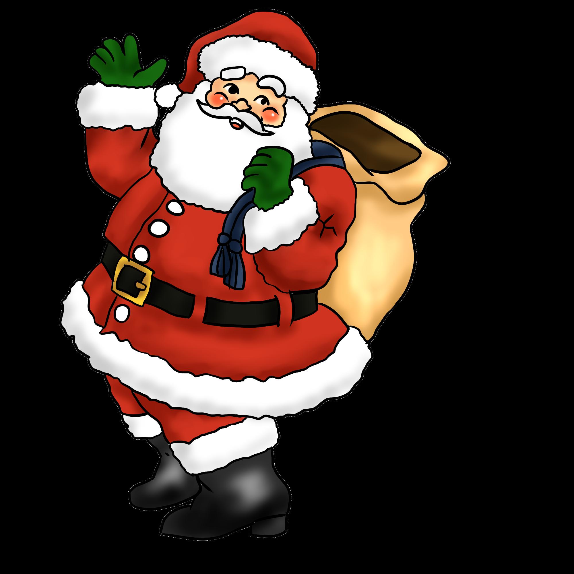 Western santa claus . Glitter clipart christmas