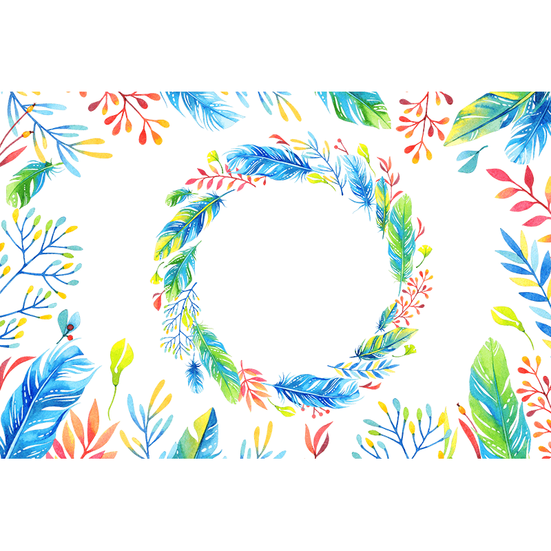 Feather clipart wreath. Png psd leaves elements